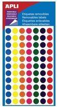 Witte Apli verwijderbare etiketten cirkel 8 mm (b x h), 308 stuks