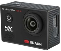Braun Phototechnik Braun Photo Technik Champion 4K III Action Cam, waterproof tot 30m, zwart
