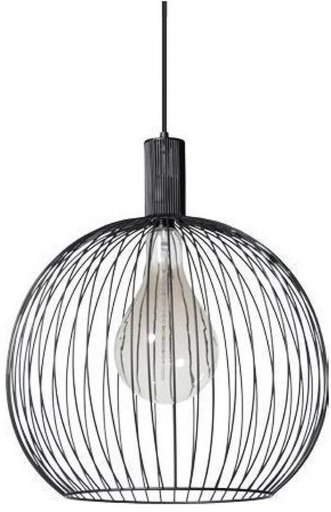 Afbeelding van ETH Wire Draden hanglamp 1 lichts zwart d:50cm - Scandinavisch - 2 jaar garantie