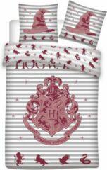 Harry Potter Dekbedovertrek - 100% Microvezel - 1-persoons (140x200 Cm + 1 Sloop) - 1 Stuk (63x63 Cm) - Rood