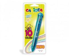 Penna a sfera automatica e multicolore Carioca
