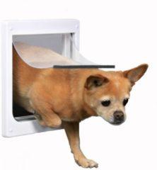 Witte TRIXIE Hondenluik 2-weg maat XS-S 25x29cm wit 3877