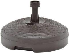 VidaXL Parasolvoet gevuld met zand/water 20 L kunststof bruin