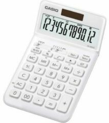 Witte Casio JW-200SC Desk calculator White Display (digits): 12 solar-powered, battery-powered (W x H x D) 109 x 11 x 184 mm