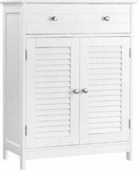 MIRA Home - Badkamermeubel - Badkamerkast staand - Landelijk - MDF - Wit - 60x30x80