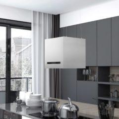 Zilveren VidaXL Afzuigkap hangend met aanraaksensor LCD 37 cm roestvrij staal