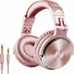 Roze OneOdio Studio Dj Headphone Pro 10 - Over-ear koptelefoon - hoofdtelefoon - dj set - kop telefoon - professionele koptelefoon - muziek studio - dj set mengpaneel - dj Headphones