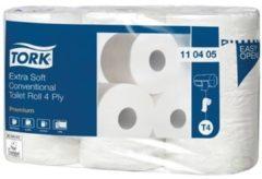 Witte Lotus Hygiëne Tork toiletpapier Conventional 4-laags systeem T4 pak van 6 rollen