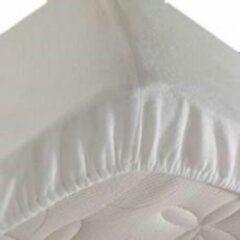 S.A.COLLECTION Waterdichte matrasbeschermer 140x200cm - 100% katoenen badstof – wit