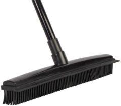Zwarte Talen Tools - Rubber bezem met steel