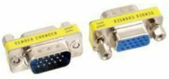Kabeldirect Valueline GCHD-MF15P kabeladapter/verloopstukje VGA 15-pin D-Sub (M) VGA 15-pin D-Sub (F) Zilver