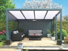 Van Kooten Tuin en Buitenleven Profiline terrasoverkapping - vrijstaand - 400x250 cm - polycarbonaat dak