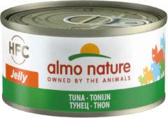 Almo Nature natvoer voor de volwassene kat 70gram tonijn 24 stuks
