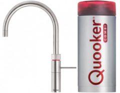 Roestvrijstalen Quooker Fusion Round RVS kokendwater kraan met COMBI boiler COMBIFRRVS 1205493292