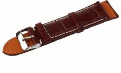 Benson Kalfsleder Donkerbruin 22mm