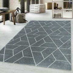 Adana Carpets Retro vloerkleed - Stencil Triangle Grijs Wit 140x200cm