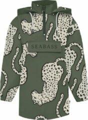 Seabass Anorak Regenjas - Oversized Pasvorm - Kind - Unisex - Duurzaam - 100% Gerecycled Polyester - Waterafstotend - Capuchon - Kangoeroezak - Seaqual - Alle Maten Verkrijgbaar - Kleur: Nepal Leopard