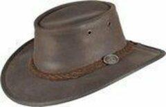 Bruine Scippis Lederen hoed Durras maat L