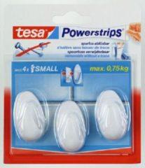 Witte 3x Tesa Powerstrips ovale haken small - Klusbenodigdheden - Huishouden - Verwijderbare haken - Opplak haken 3 stuks