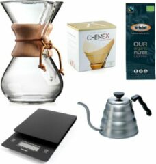 Chemex Coffeemaker slow coffee starter kit 6-Kops