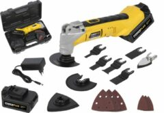 Powerplus POWX1331LI Multitool - 18V accu (2x) - incl. 35 accessoires