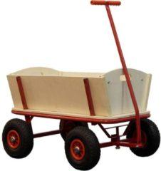 Sunny Billy Beach Wagon / Bolderkar / Rood / Blank hout / 94 x 61 x 97 Cm