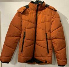 Oranje Merkloos / Sans marque Gibson heren winterjas orange/brown bomber - maat XXL