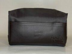 L'oreal professionnel Homme toilettas voor mannen - Travelbag - Reistas - Handbagage - bruin H15cm x B20cm x D10cm