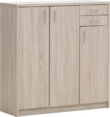 Rousseau Commode Spacio 3 deuren & 2 laden H 110cm - sonoma eik