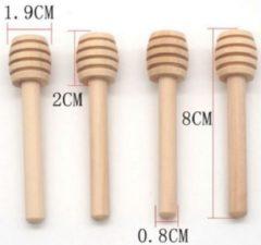 Go Go Gadget Honing lepel - Dipper - Hout - Honeydripper - Keukengerei - Ontbijt - Hout - 8 cm