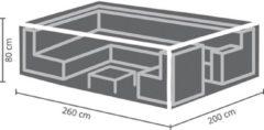 Antraciet-grijze Maxx Lounge set beschermhoes - 260 x 200 x 80 cm - rechthoekig