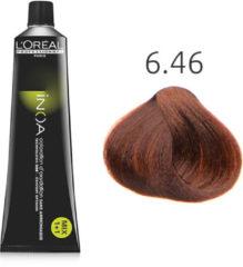 Rode L'Oreal Professionnel L'Oréal - INOA - 6.46 Donker Koper Roodblond - 60 gr