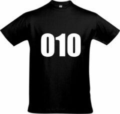 Zwarte Bc Feyenoord - Rotterdam - Voetbal - 010 Unisex T-shirt XL