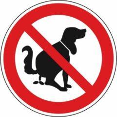 Rode ESVSHOP.nl Verbodsbord 'Verboden voor hondenpoep', aluminium, 200 mm