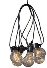 Konstsmide 2371 - 5 Lamps LED feestverlichting peertje met lichtsnoer - op batterij - timer - voor binnen en buiten - extra warmwit