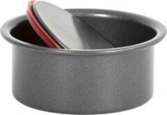 Rode Wham Bakvorm Pushpan Non-stick 10 Cm Carbonstaal Grijs