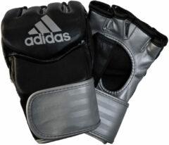 Adidas Vechtsporthandschoenen - Unisex - zwart/zilver Maat M: Mannenhand