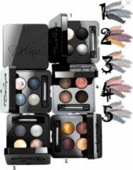 Zwarte L+R Deluxe Artistic Quattro Eyeshadow. Oogschaduw 4 in doosje, 01 - 4 kleuren - Night Rock