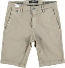 Replay lehoen hyperflex beige slim fit stretch chino short - Maat W27