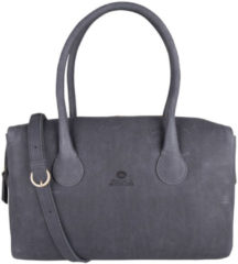 Fred de la Bretoniere Handtas Handbag L Soft Grain Leather Blauw