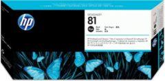 Zwarte HP 81 - Inktcartridge / Zwart + Reiniger (C4950A)