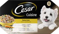 Cesar Alu Multipack Cuisine - Hondenvoer - Mix 4x150 g - Hondenvoer