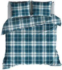 Blauwgroene Satin d'Or Banff - Dekbedovertrek - Eenpersoons - 140x200/220 cm + 1 kussensloop 60x70 cm - Teal