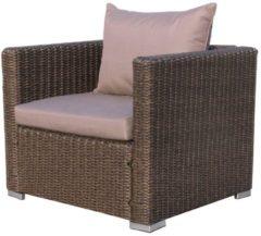 Rattan Loungesessel 80cm Pepe Braun Sofa Relaxsessel Schlafsessel Lounge Sessel Famous Home Braun/Sand