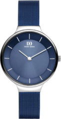 Zilveren Danish Design watches edelstalen dameshorloge Georgia Blue Silver Mesh IV69Q1272