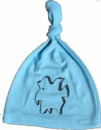 Afbeelding van Anha'Lore Designs - Weezel - Babymuts - Lichtblauw/zwart