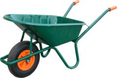 Klusgereedschapshop Vabor Kruiwagen 80 liter stalen bak 2ply luchtband groen