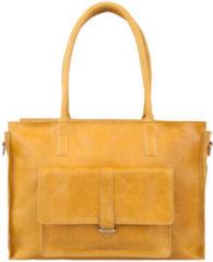 Cowboysbag Handtas werktas laptoptas met voorvak BAG EDGEMORE 15 inch Amber