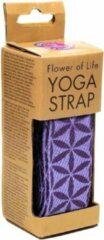 Paarse Yogi & Yogini Yoga Riem D-ring Bloem des Levens
