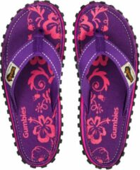 Gumbies - Teenslippers DamesISLANDER CANVAS - Paars - HIBISCUS - Maat 40